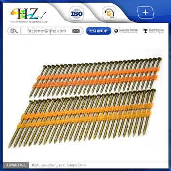 Alibaba Website Online Shopping 21 Degree Full Round Head Framing Nails  Plastic Strip Nail In Tianjin