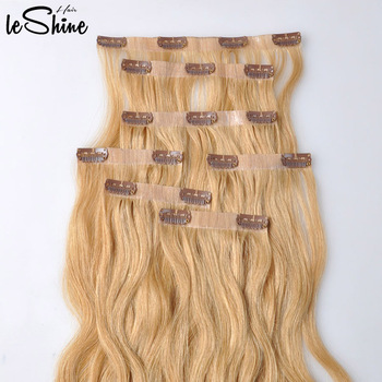 Seamless Clip In Remy Human Hair Extensions For White Women