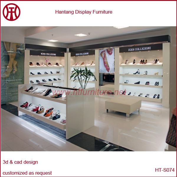 Factory Price High Quality Footwear Shop Furniture, Shoes Display Stands, Wooden Shoe Shop Shelves for Sale