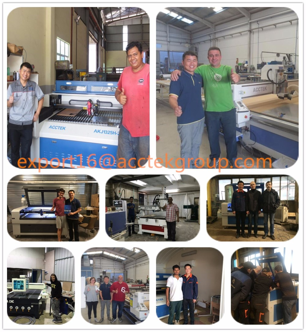 Double two laser heads Co2 laser cutter engraver machine / China big manufacturer cnc 3d laser machine for sale