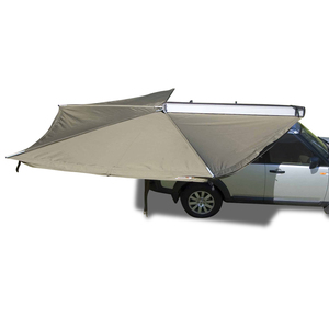Grey Car Side Awning Roof Top Tent Camper Trailer Camping 4WD 4X4 Awnings