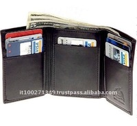 QB-1 3-Fold Black PU Cool Men Wallet
