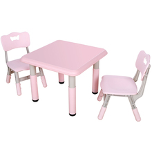 Cheap plastic kindergarten furniture study table and chairs for kids