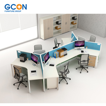 Office desk for 3 person workstation cubicle desk screen partition, View  office workstation, GCON Product Details from Guangxi Gcon Furniture Group  ...