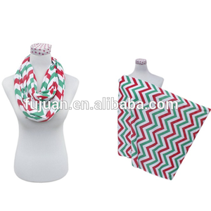 Fashion colors jersey cotton chevron infinity nursing breastfeeding scarf