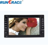 Android 6.2 inch car dvd player with gps navigation bluetooth for universal best double din car stereo speakers system