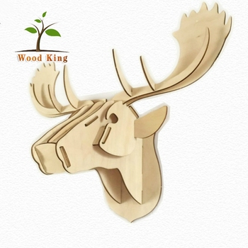 exquisite creative household gifts christmas decorations wooden deer head - Wooden Deer Christmas Decorations
