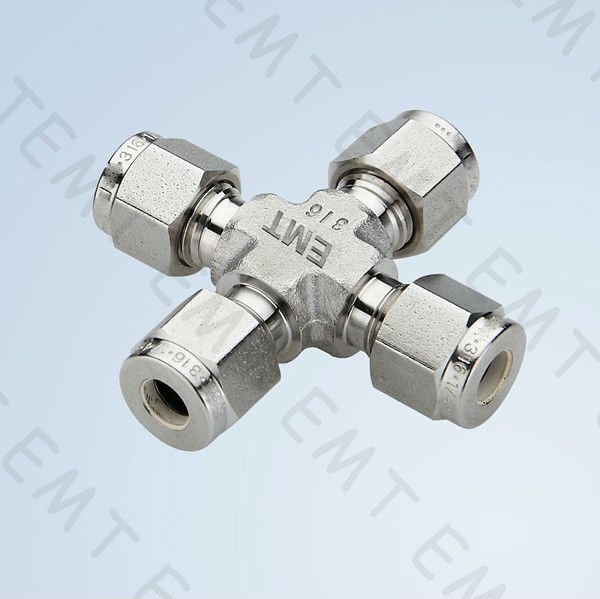 cross, compression tube fitting