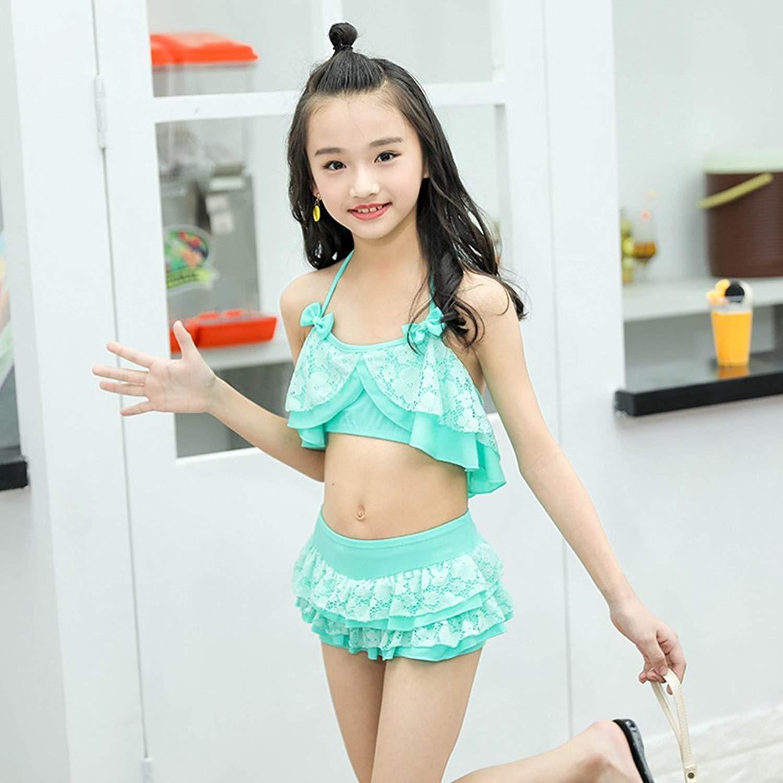 431775550a2f6 Get Quotations · BERTERI Two-Piece Cute Flower Lace Bikini Swimsuits  Bathing Suits Swimwear for Baby Girls Kid