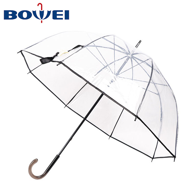 Color Changing Umbrella with Cute Polka Dots Pattern Automatic Open Close Button Portable Light Weight Windproof
