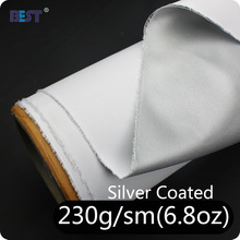 Wide width FR BS5852 silver coated polyester fabric for sublimation