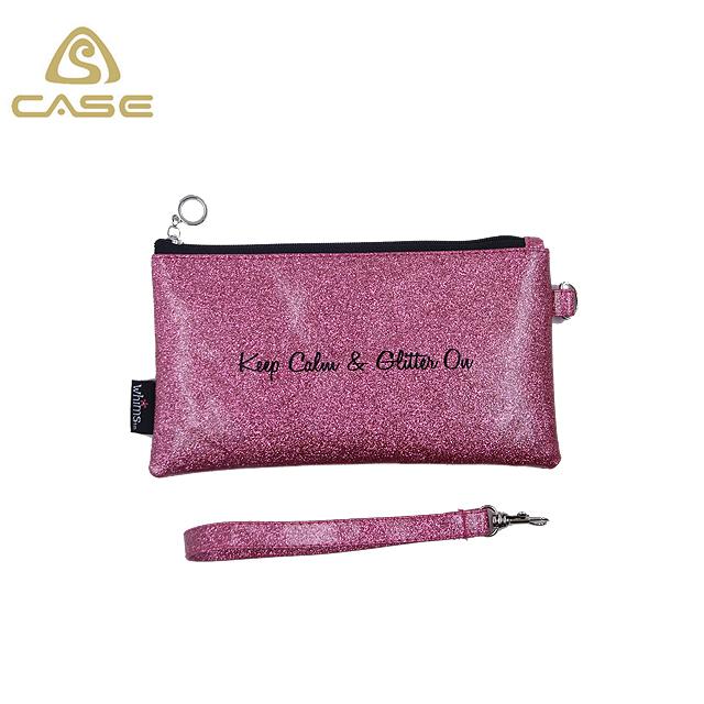Mode PU-Make-up kosmetische Glitzer Tasche
