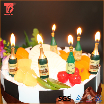 Wholesale Wine Bottle Shaped Party Decoration Candles In China