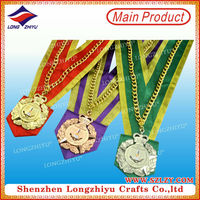 Singapore Casting Gold/Silver/Bronze Metal Souvenir Medal with Custom Design