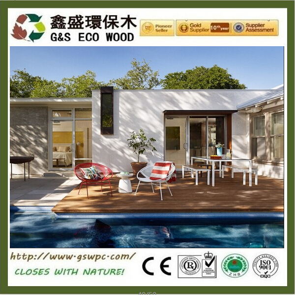 High quality veranda wpc decking anti-uv wpc board easy install wood plastic composite flooring