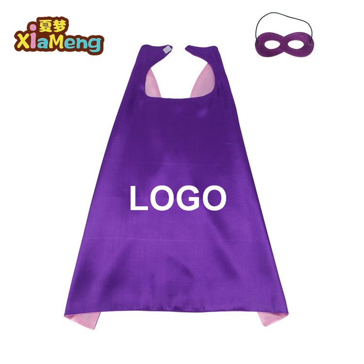 Custom cartoon kinderen superheld capes Halloween kostuum party kids super hero cape masker