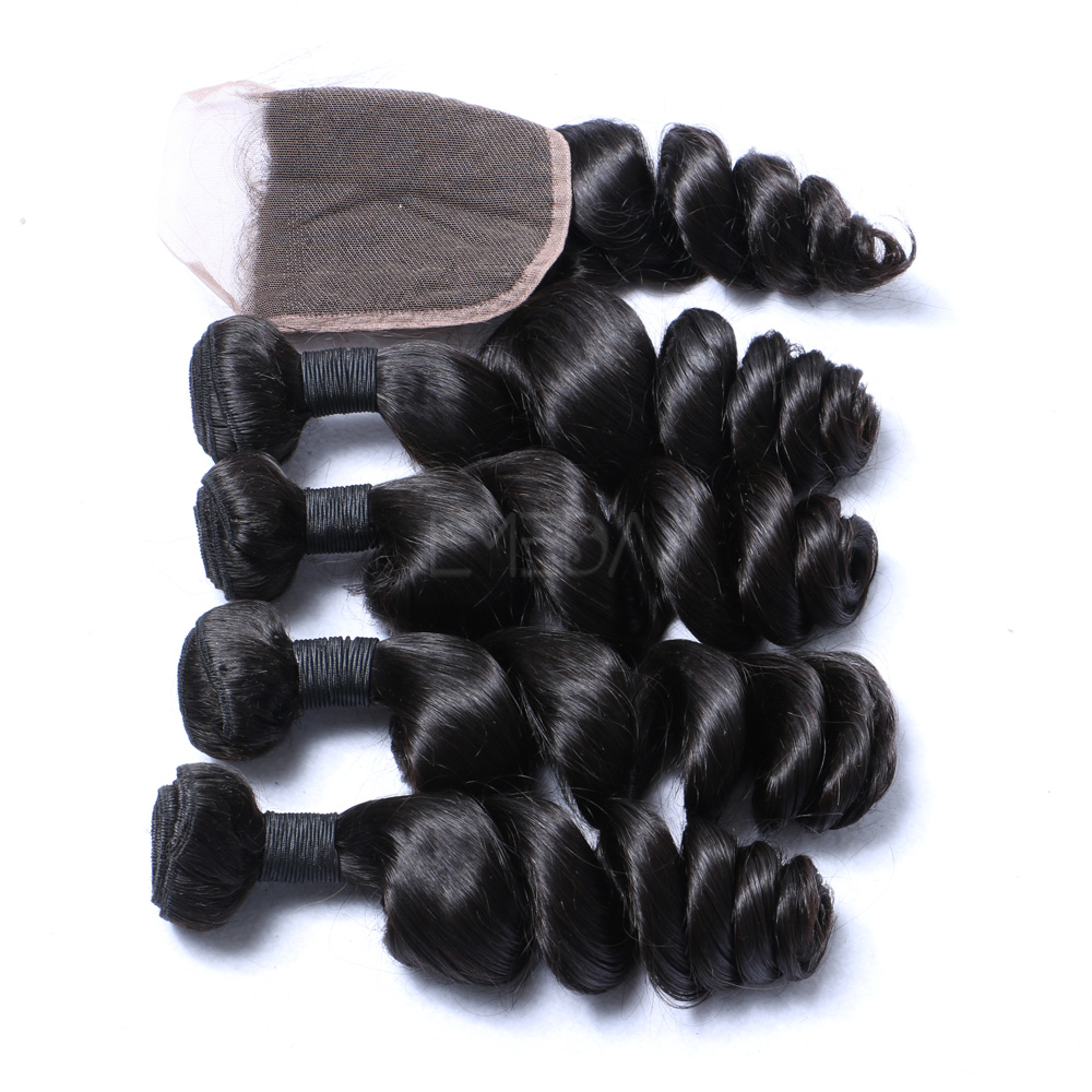Most popular full cuticle cheap wholesale remy 100 european remy virgin human hair weft natural loose wave for black women