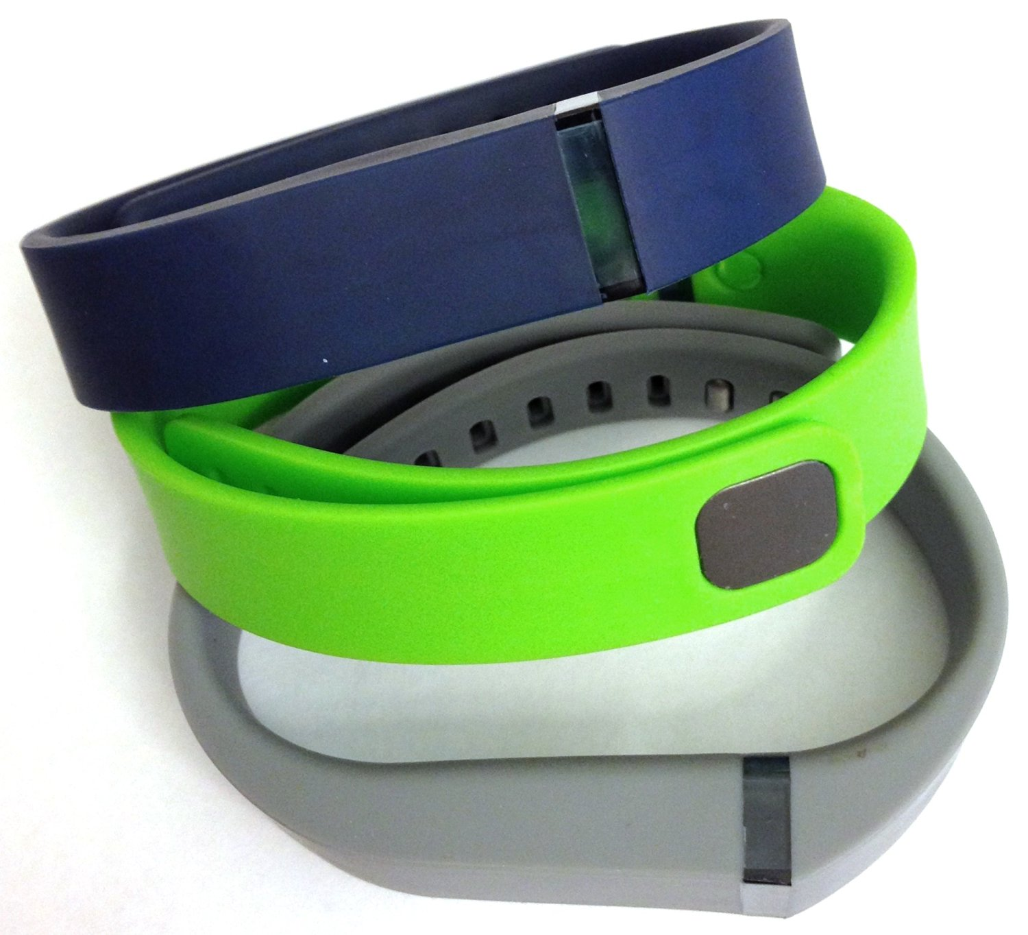 Set 3 Colors Large L 1pc Grey 1pc Green 1pc Navy Blue Replacement Bands With Clasp for Fitbit FLEX Only /No tracker/ Wireless Activity Bracelet Sport Wristband Fit Bit Flex Bracelet Sport Arm Band Armband