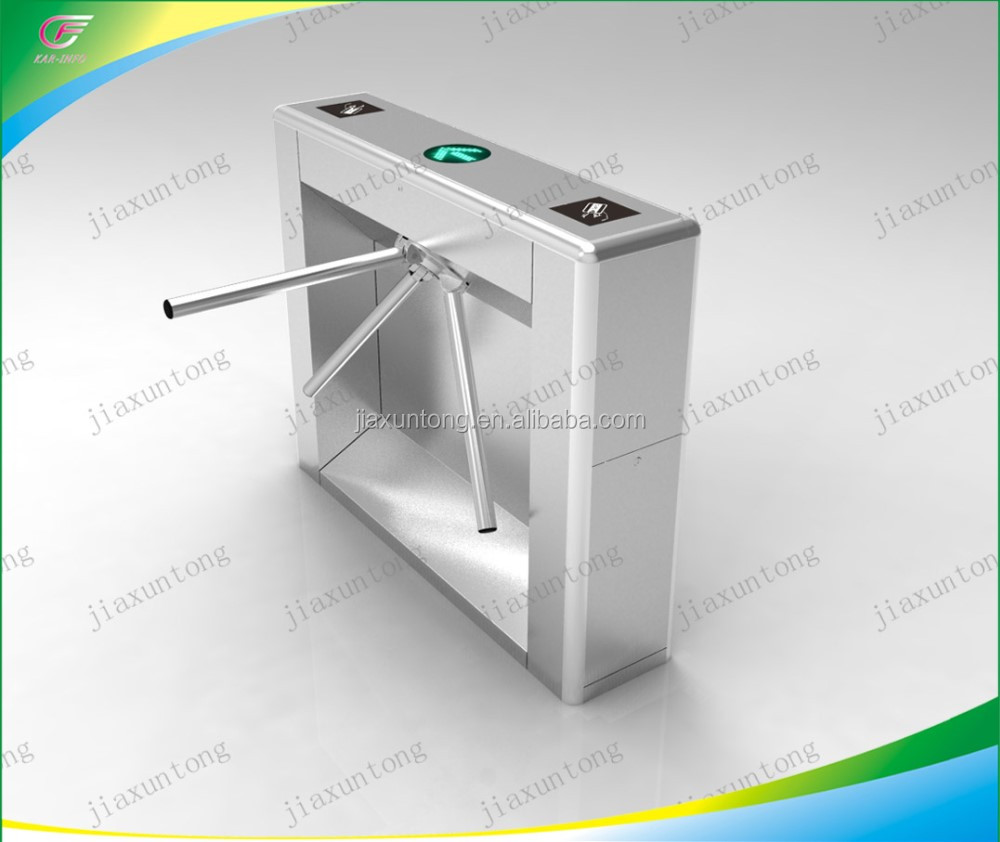 fingerprint security tripod turnstile doors with fingerprint access control system