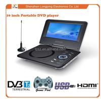 DVBT2/ISDB-T portable DVD player low price, 9 inch pink portable DVD player