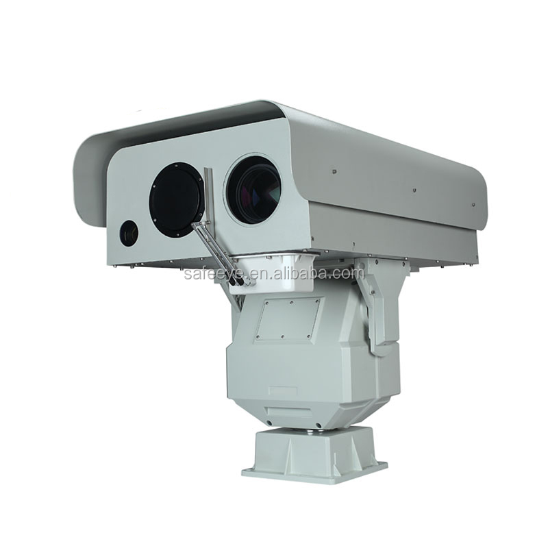 Seaport & airport security Long range 1.5km laser fog penetration camera Support solar power supply