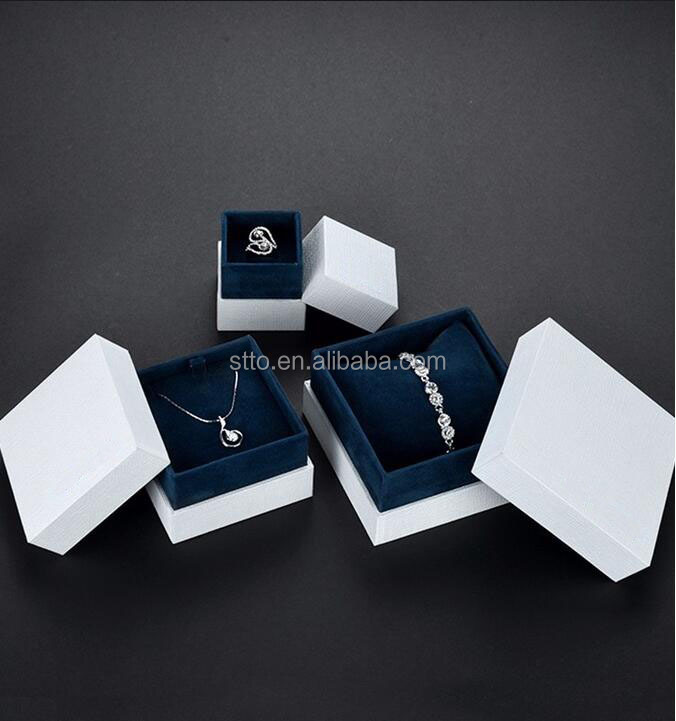Popular Simple white cardboard box wholesale jewelry packaging supplier for ring necklace bracelet, unique for jewelry packaging