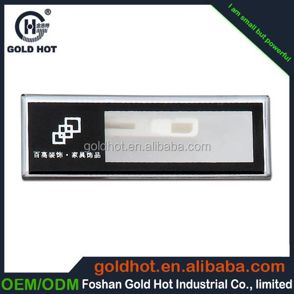 Metal hot melt adhesive hang tag in 3d floor sticker metal for Plaque de metal adhesive