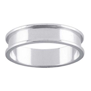 wholesale 5mm fashion women mens stainless steel jewelry channel ring blanks for inlay