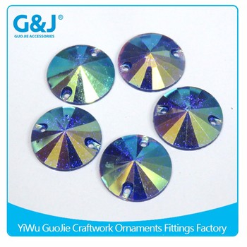 Guojie brand high quality sew on clothing for sale loose beads crystal resin stones