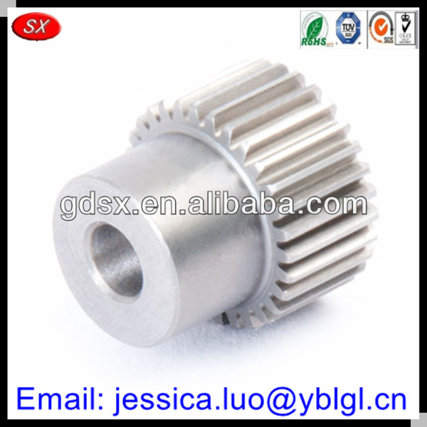 google China make 2014 new design custom small spur gear,silver aluminum/stainless steel spur gears,spur gear manufacturing