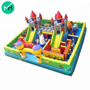 commercial hot sale inflatable fun city castle bouncer on sale