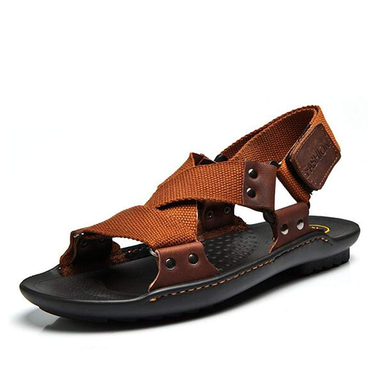 cb7119636983 Get Quotations · Mens Sandals Hiking Walking Summer Beach Velcro Sports  Trekking Sandals Shoes Black