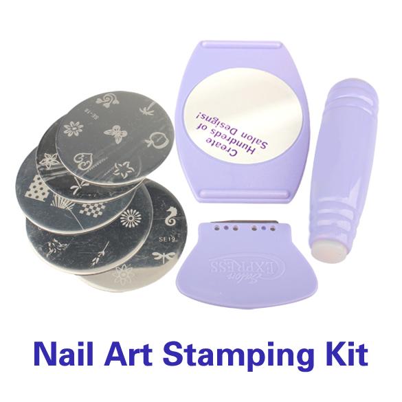 DIY Nail Stamping Kit Nail Art Stamp & Scraper Polish Nail