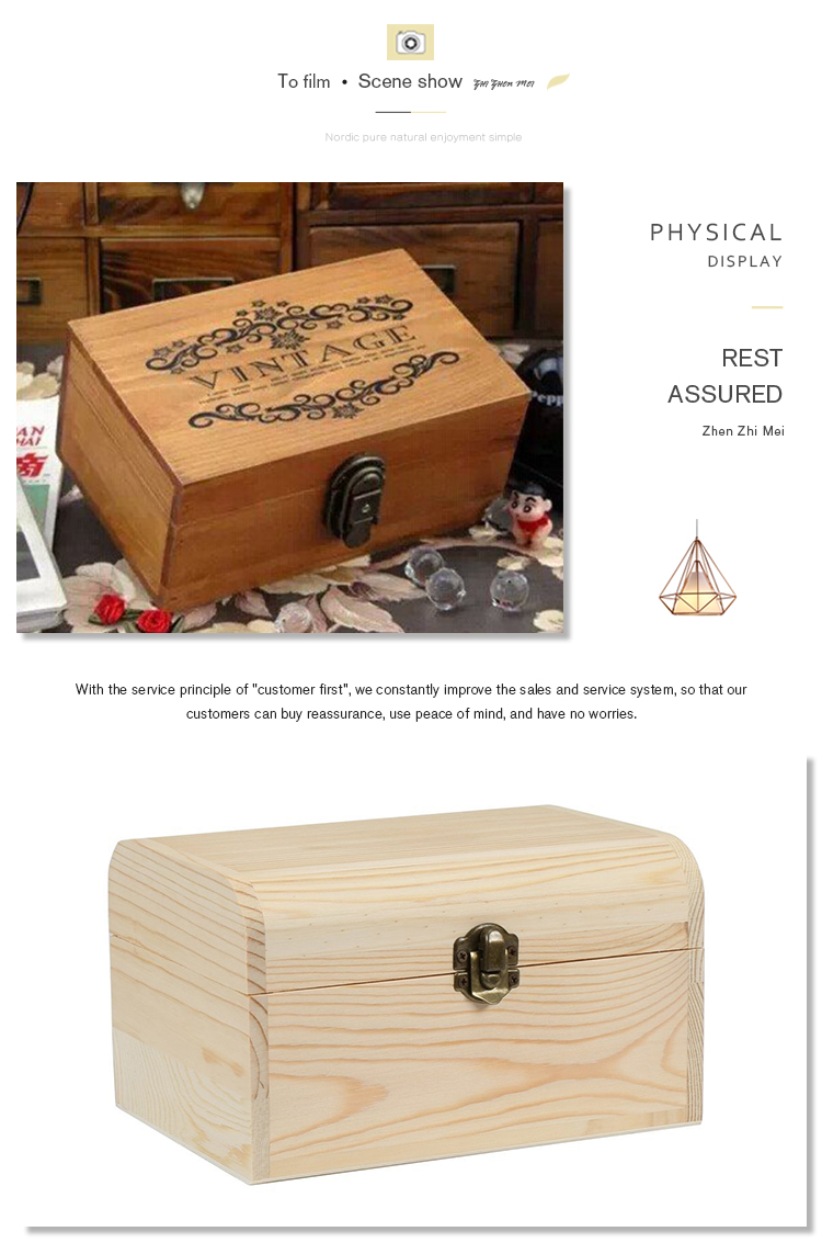 China supplier wooden treasure gift box