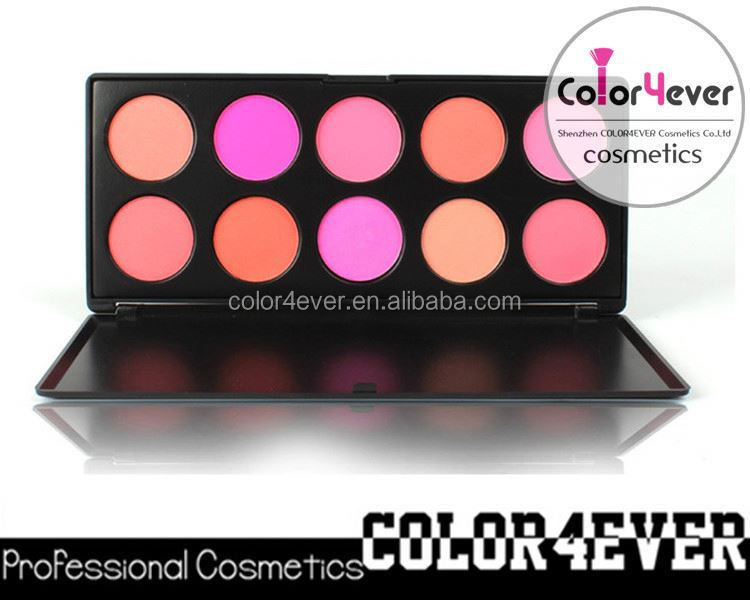 Wholesale Professional 10 Colors Makeup Blusher Palette 26 eyeshadow palette