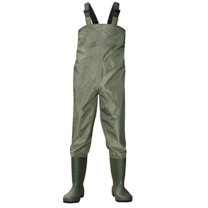 2015 Cheapest hangzhou nylon PVC material fishing chest wader for men