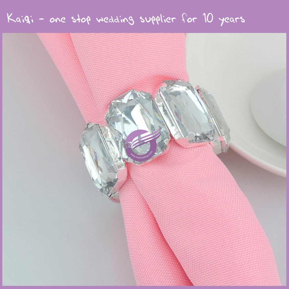 Hs00070 Wedding Wholesale Cheap New Ivory Flower Design Napkin Rings ...