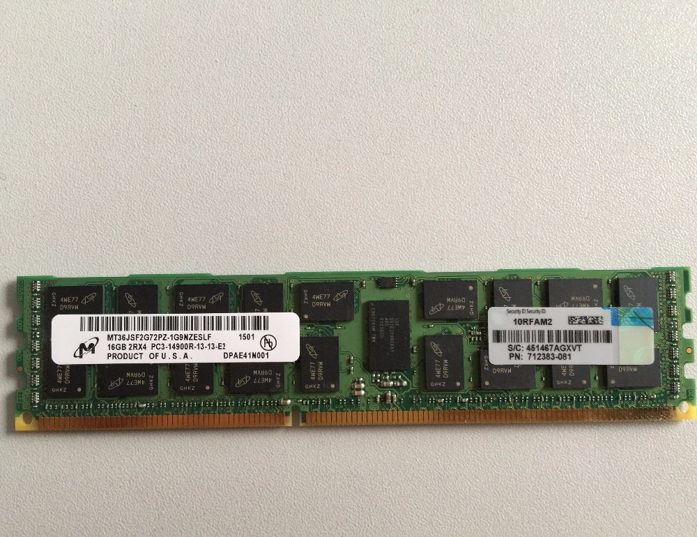 708641-B21 with high quality for HP server 16GB 2Rx4 PC3-14900R memory module on alibaba AC