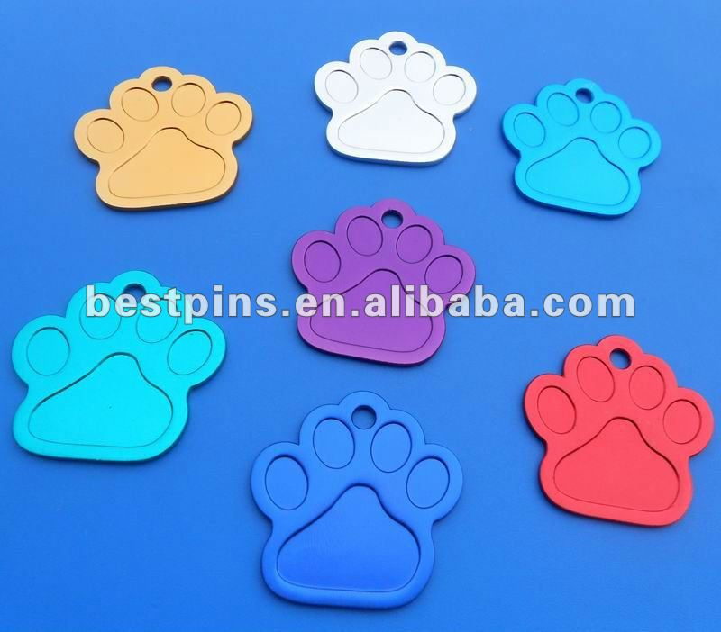 toes anodized blank aluminum dog tags
