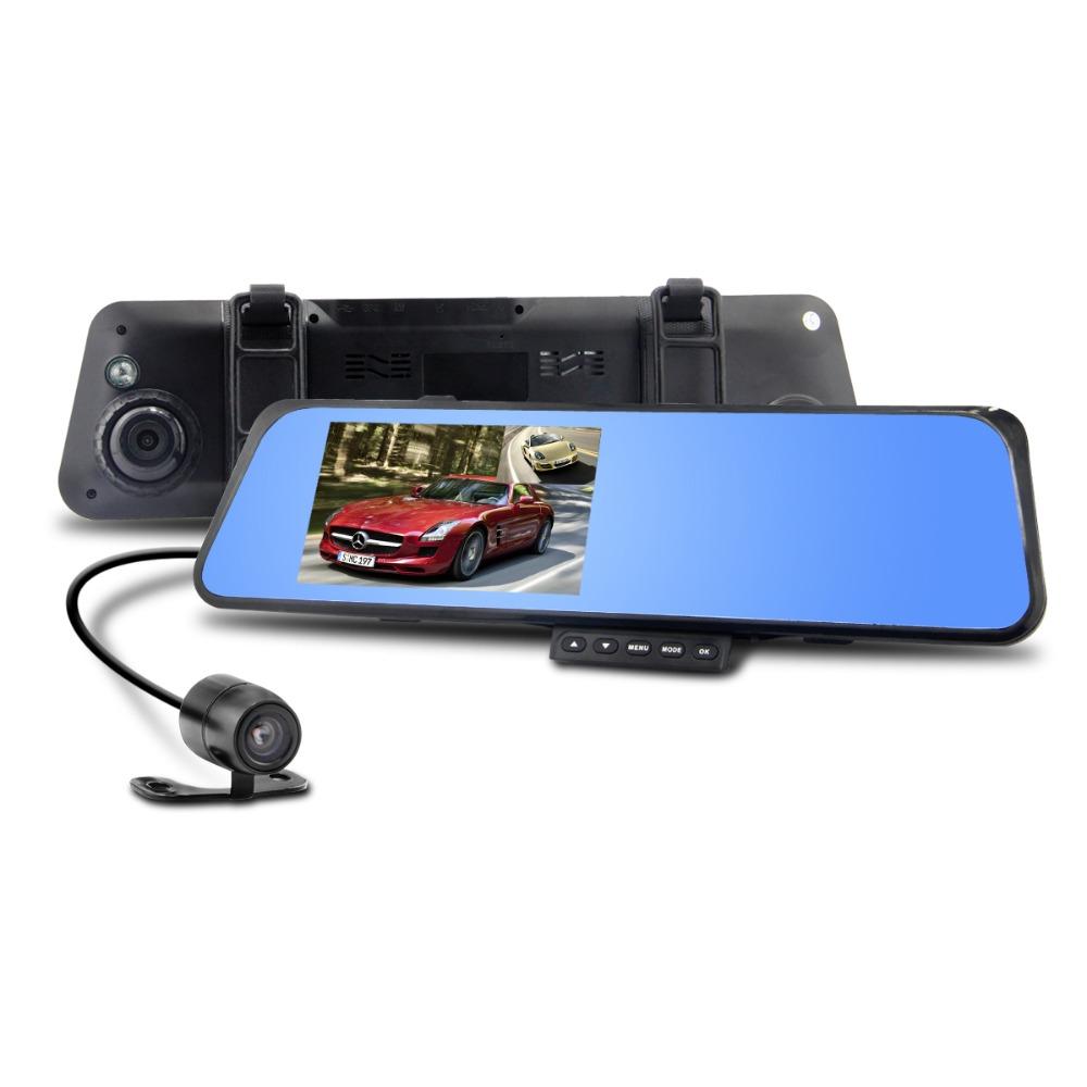 car camera z100 car dvr rearview mirror camera recorder 4 3 39 tft lcd full hd 1920x1080p rear view. Black Bedroom Furniture Sets. Home Design Ideas