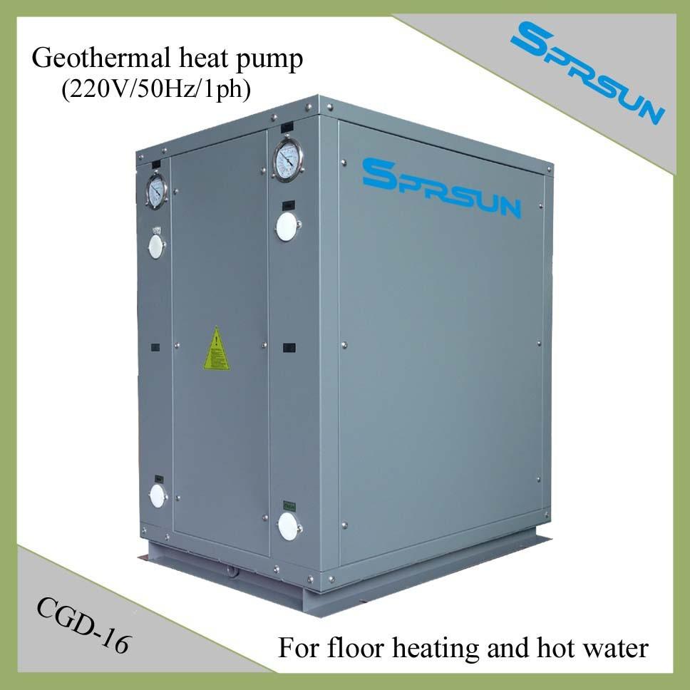 Sistema de bomba de calor geot rmica para calefacci n por for Calefaccion por bomba de calor