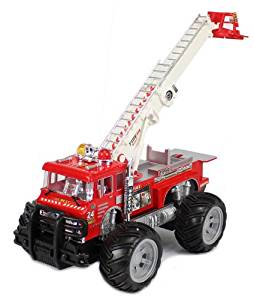 Big Size Remote Control RC Fire Truck w/ Lights, Music, Sirens, Rechargeable Batteries Full Functions Good Quality Remote Control Fire Truck