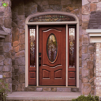Lowes Big Front Natural Wood Prehung Doors With 2 Sidelights Buy Big Front Doornatural Wood Doorlowes Pre Hung Doors Product On Alibabacom