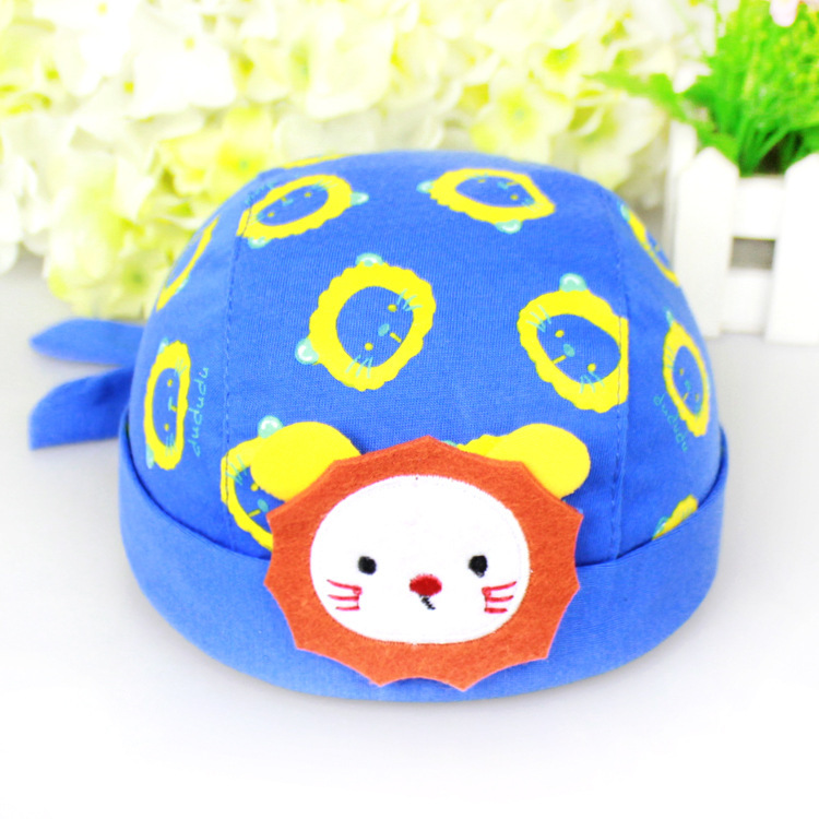 4ff5a83f04b Get Quotations · baby hat Children Pirate Hat Little lion Cartoon image  Flanging Burring Lacing Scarf risk Headscarves hat