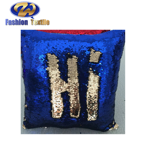 Various Size Blue Christmas Sequin Cushions