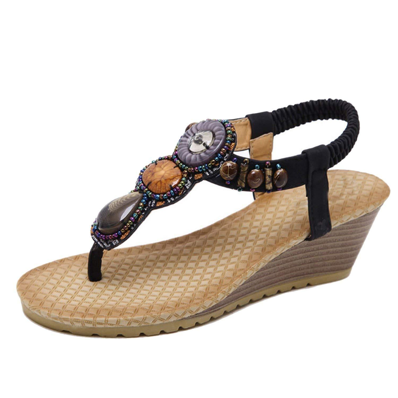 Get Quotations · Show-Show-Fashion slides-sandals Women Sandals Open Toes Sandalia  Feminina Wedges Casual 18f3360e4e59