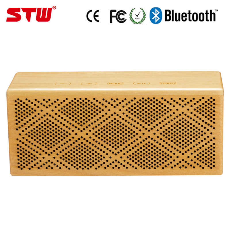 2017 private bass oem wood outdoor bluetooth speaker with radio