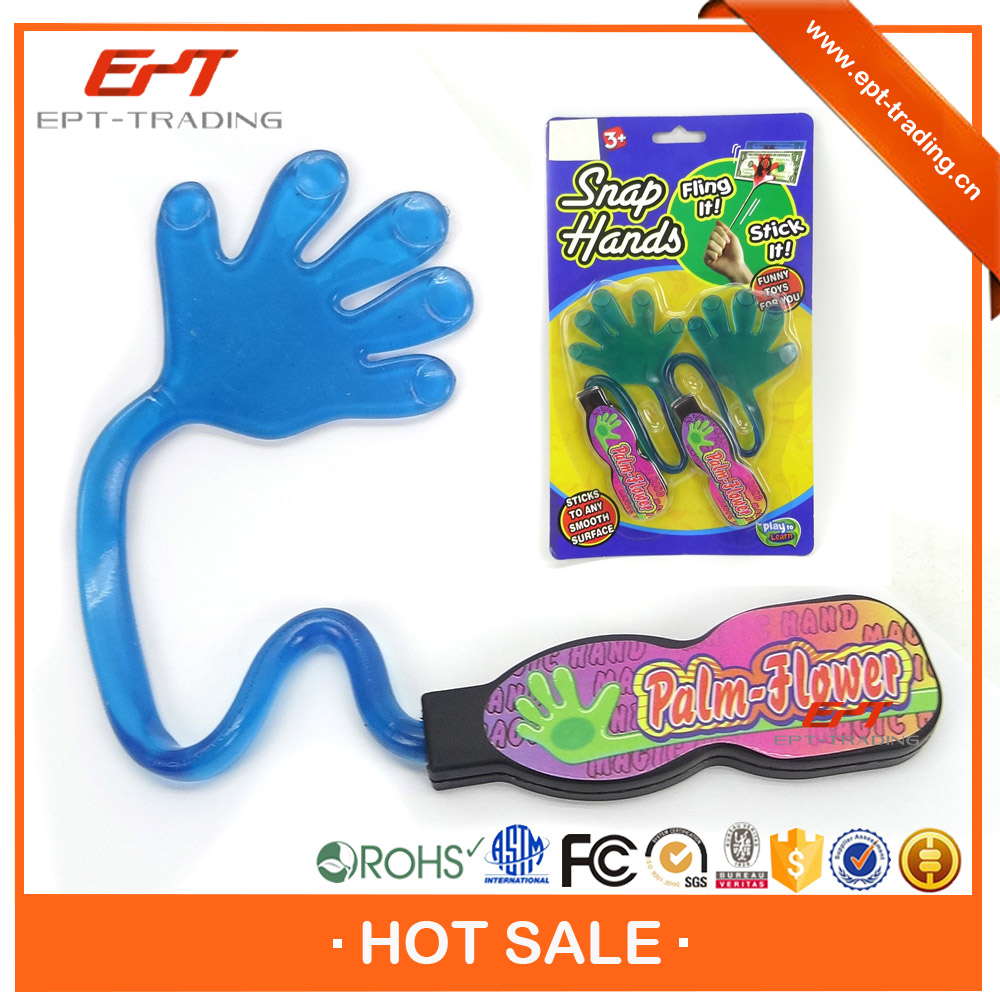 Promotional gift kids plastic sticky hand toys for sale
