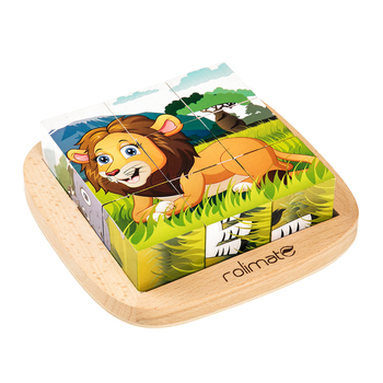 Wholesale animal wooden puzzle 3d wooden puzzle animals cube animal puzzle