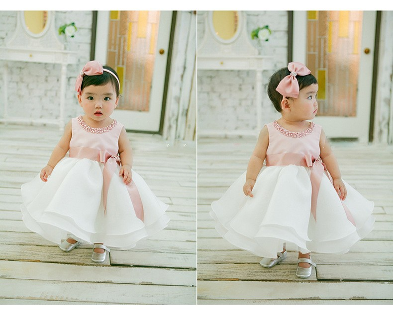 46a6628141619 1 Years Old Baby Girl Baptism Communion Mini Summer Dress L1829xz ...